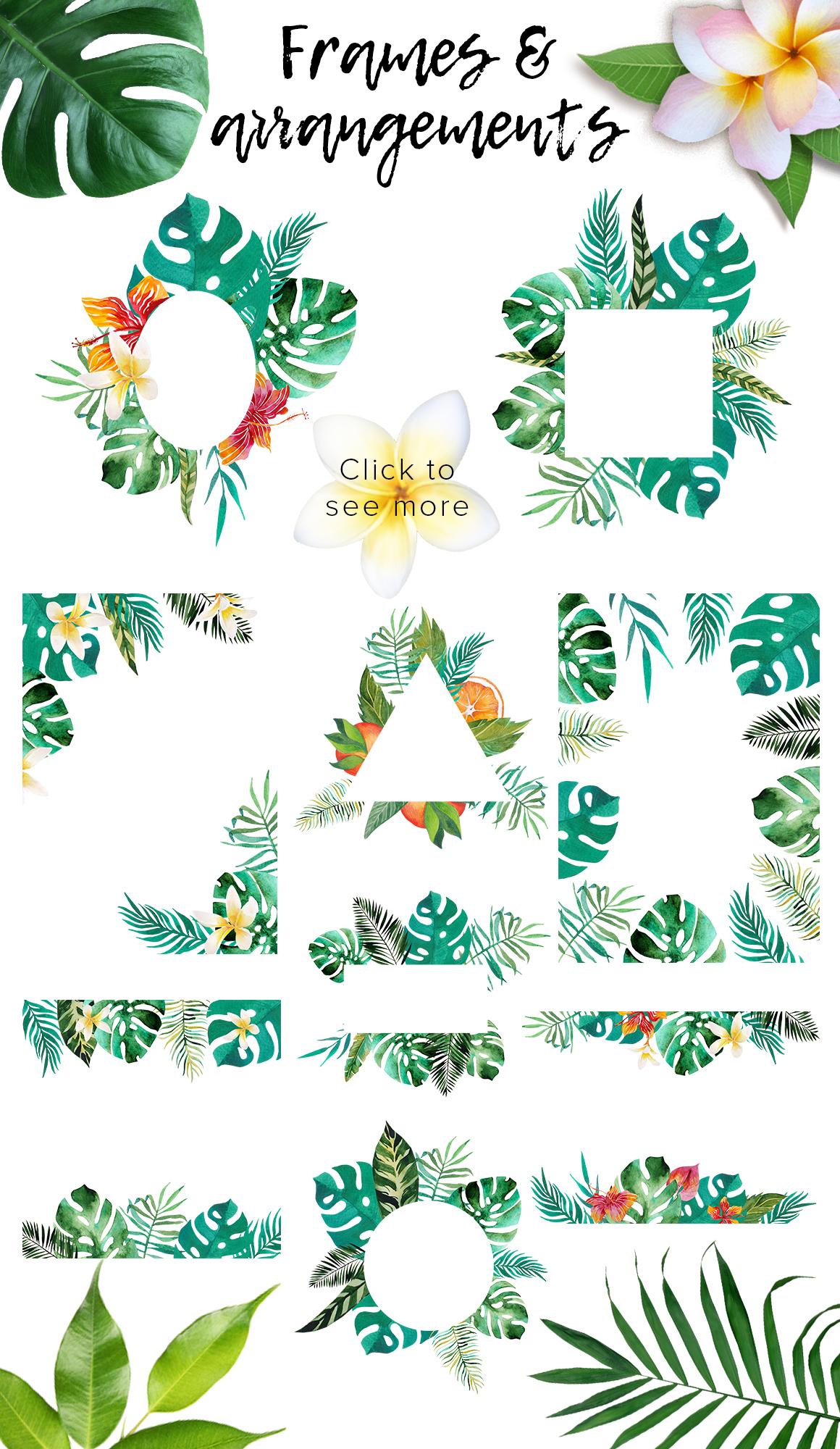 Tropic boom! watercolor designer kit example image 3