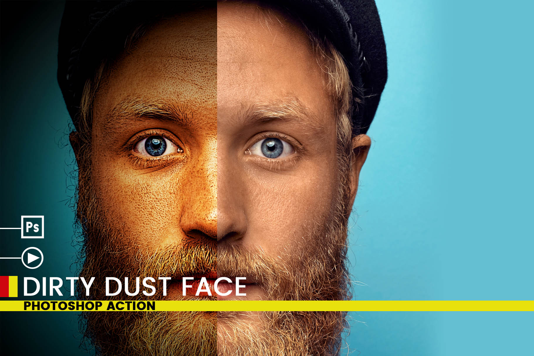 Dirty Dust Face Photoshop Actions example image 2