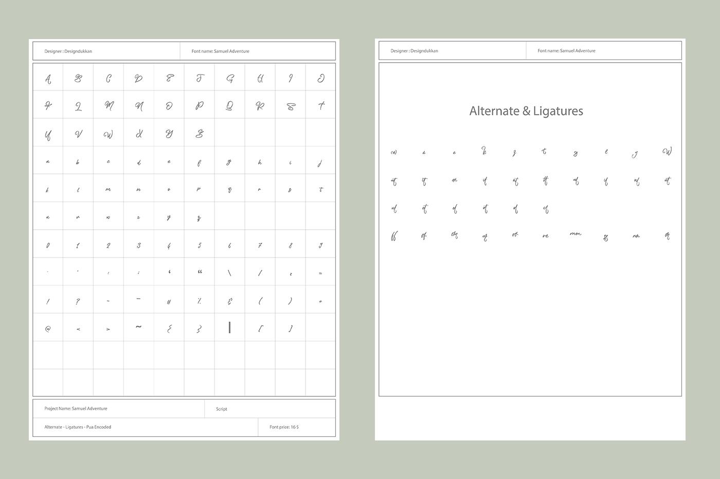 Waton Kattuk Script Font example image 4