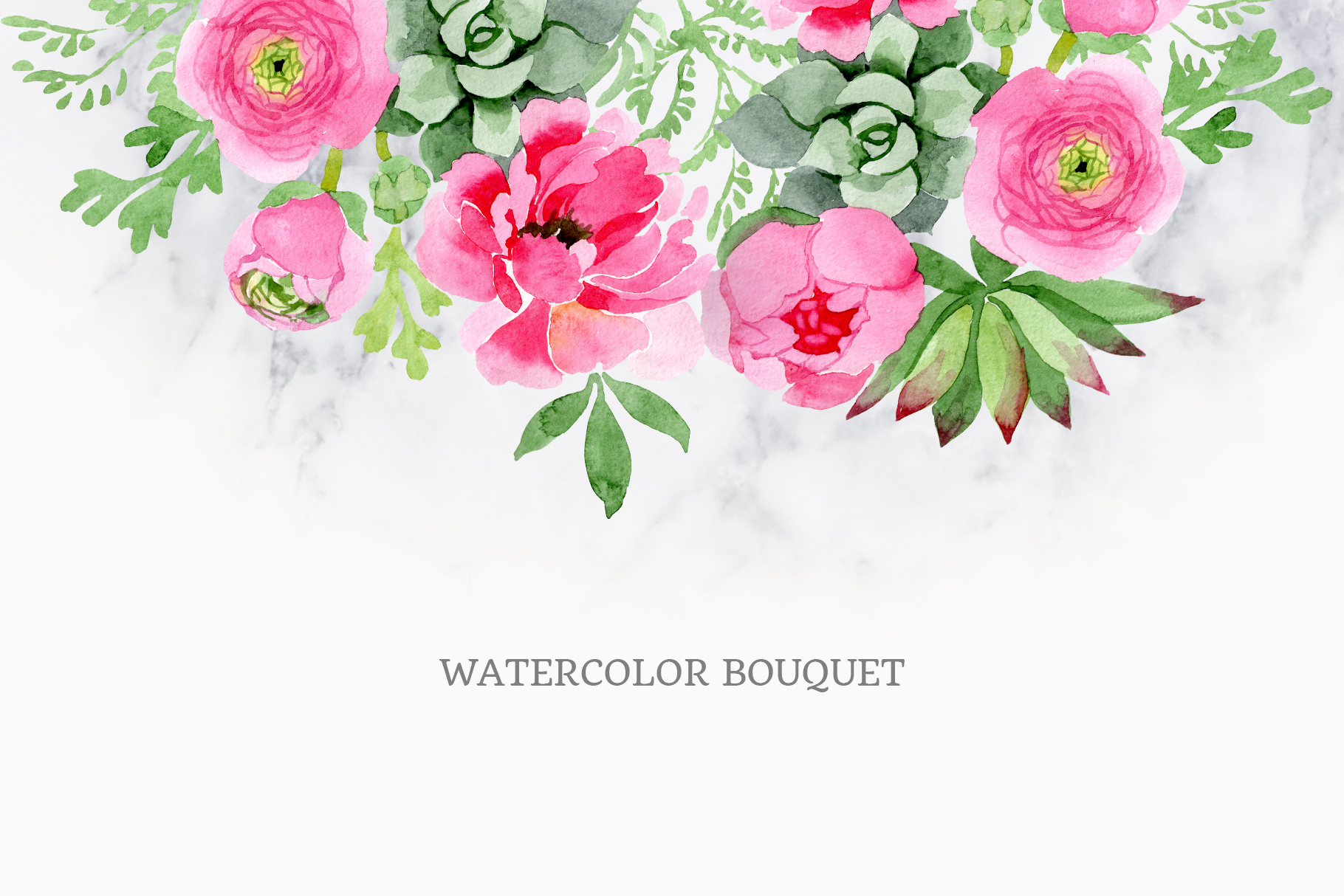 Buttercup flowers pink Watercolor png example image 2