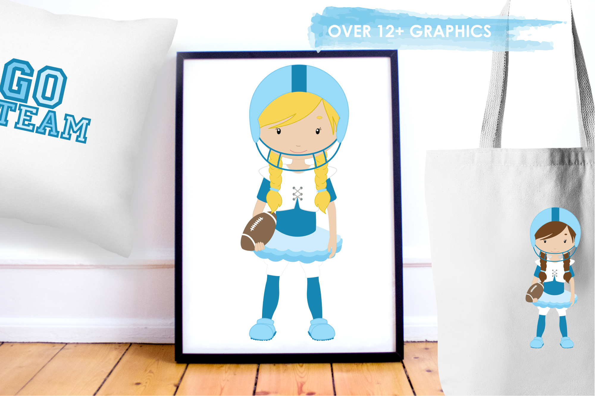 Touchdown Girls graphics and illustrations example image 5