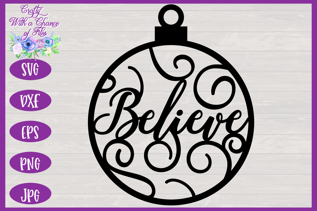 Christmas Word Ornaments SVG | Laser Cut Baubles SVG example image 5