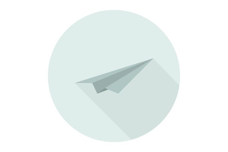 Paper plane icon example image 1