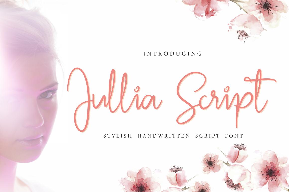 Jullia Script example image 1