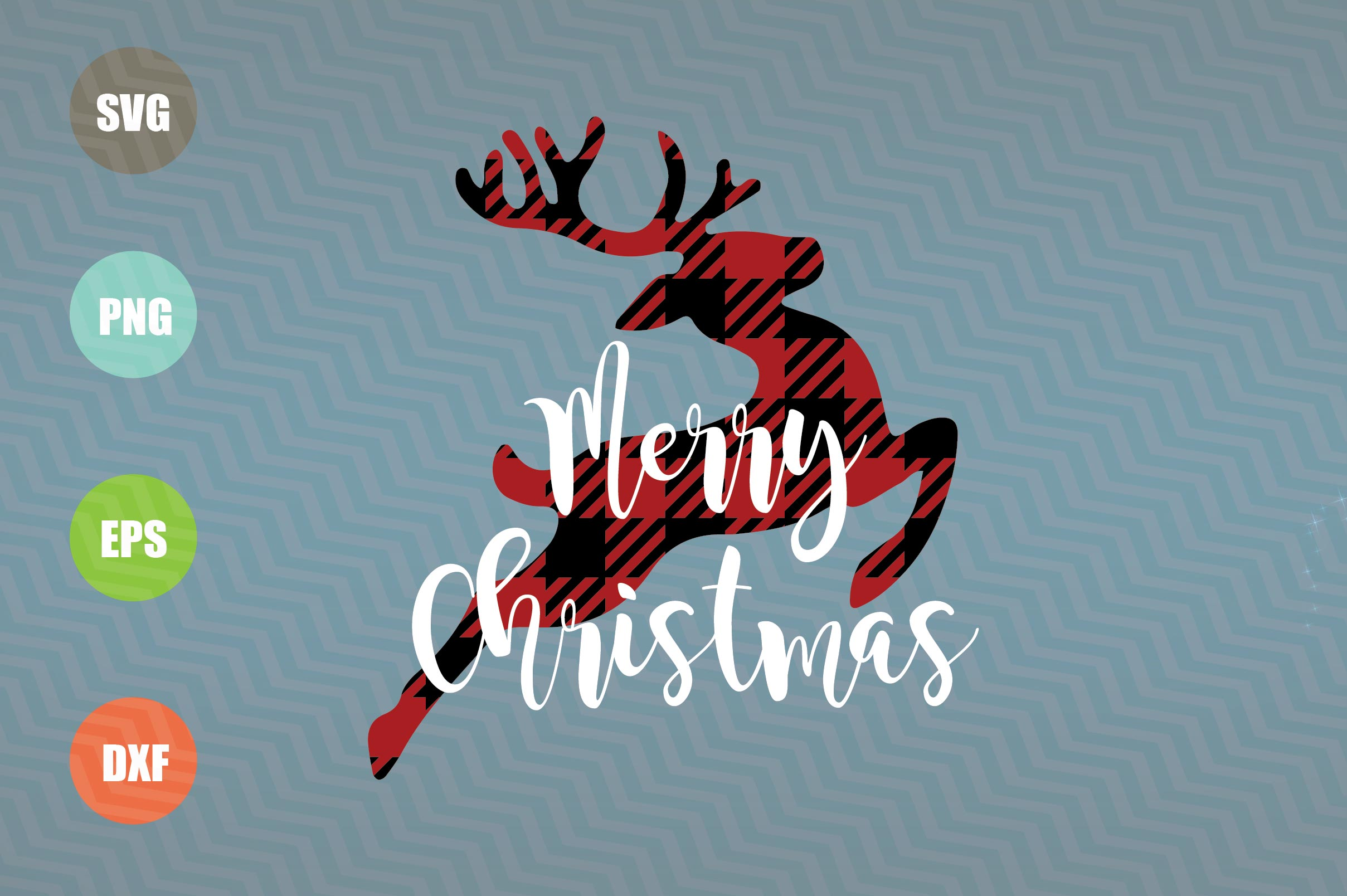 Merry Christmas Reindeer SVG example image 1