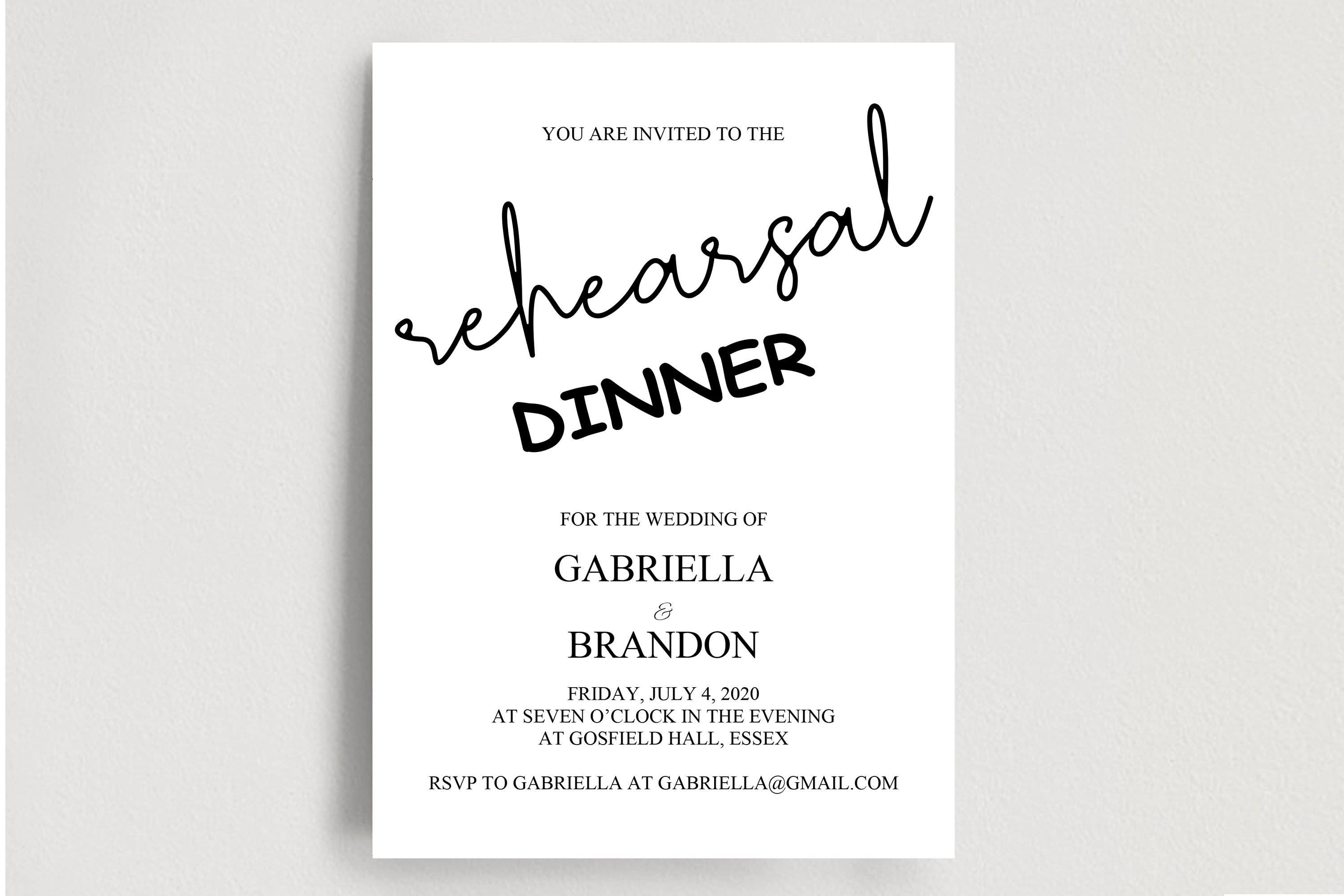 Rustic Rehearsal Dinner Invitation, Invitation Template example image 2
