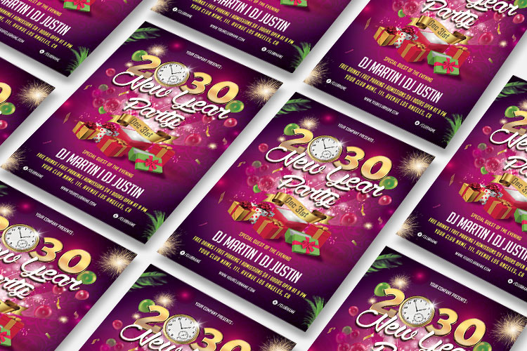 NEW YEAR PARTY FLYER 1 example image 4