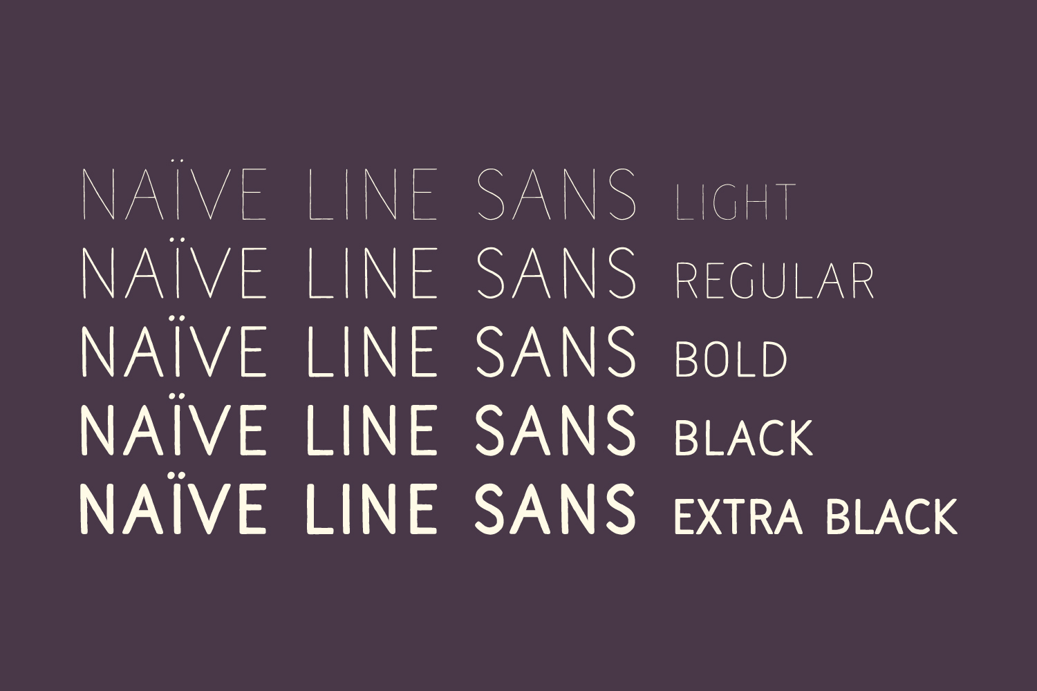 Naive Line Sans Family example image 2