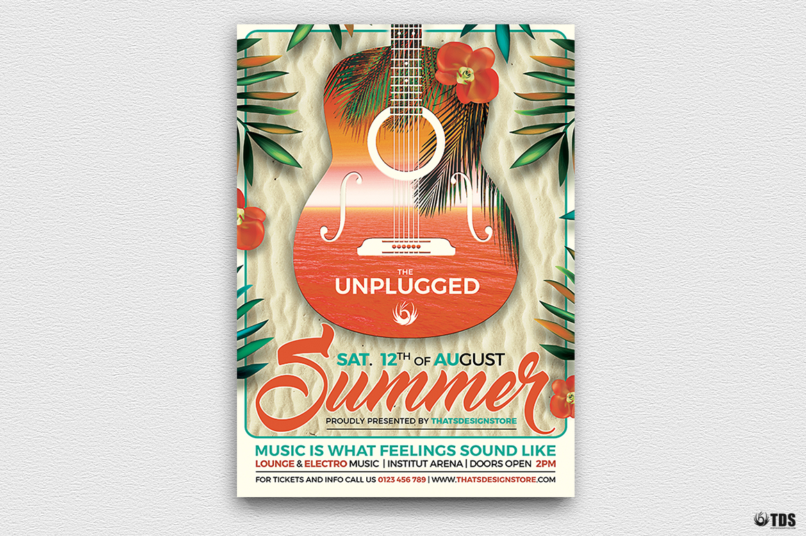 Summer Unplugged Flyer Template V2 example image 2