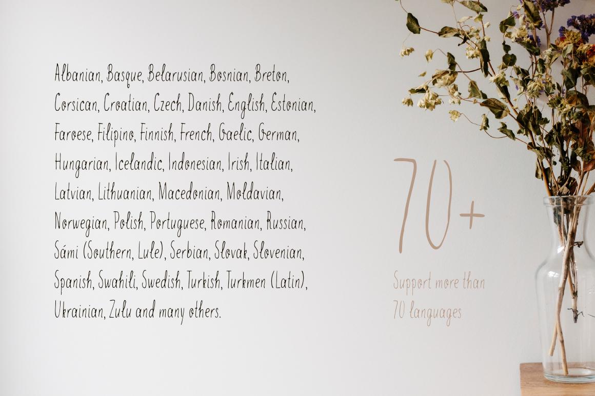 Idol—handwritten font example image 2