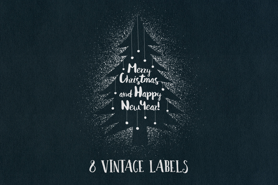 Vintage Christmas Labels example image 1