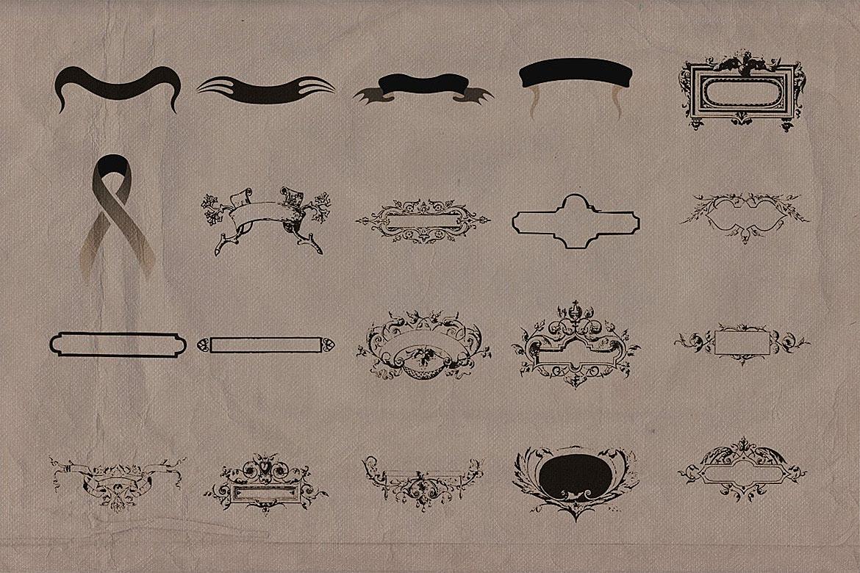 Retro/Vintage shapes - Ribbons 2 example image 2