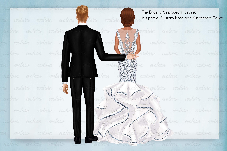 Custom Groom Clipart Bride Clipart Men Clipart Groomsmen example image 8