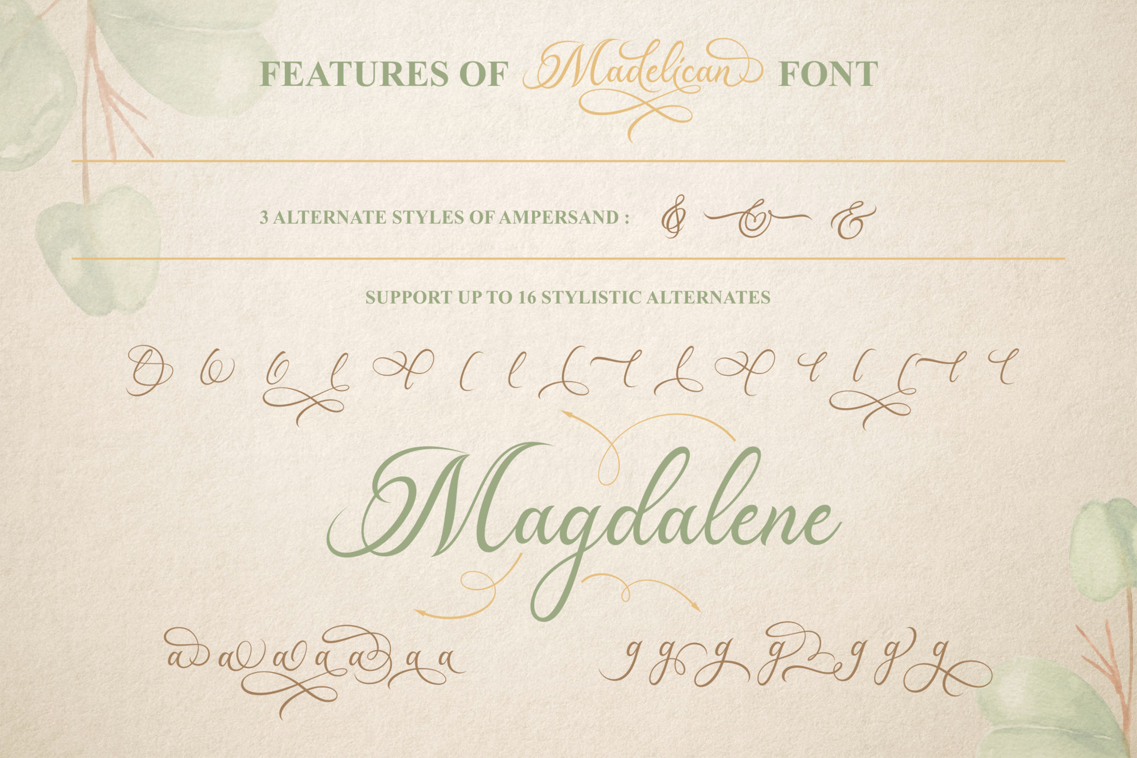 Madelican Calligraphy Font example image 4