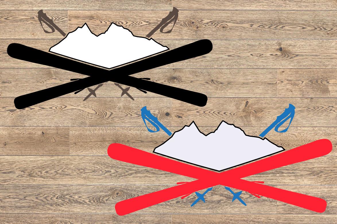 Logo Mountains Ski Side svg Christmas santa 1062s example image 2