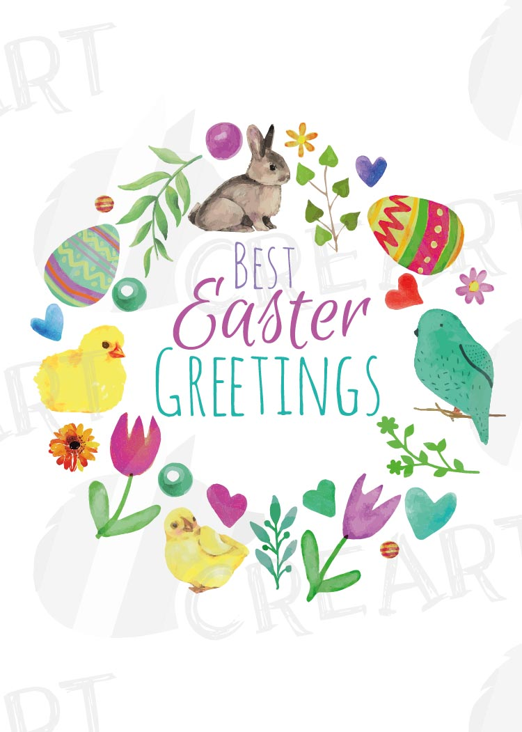 Easter greeting cards, 6 Happy Easter cards, colorful cards example image 13