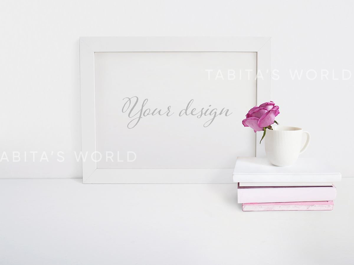 Pink Roses Quote Mockup Bundle example image 3