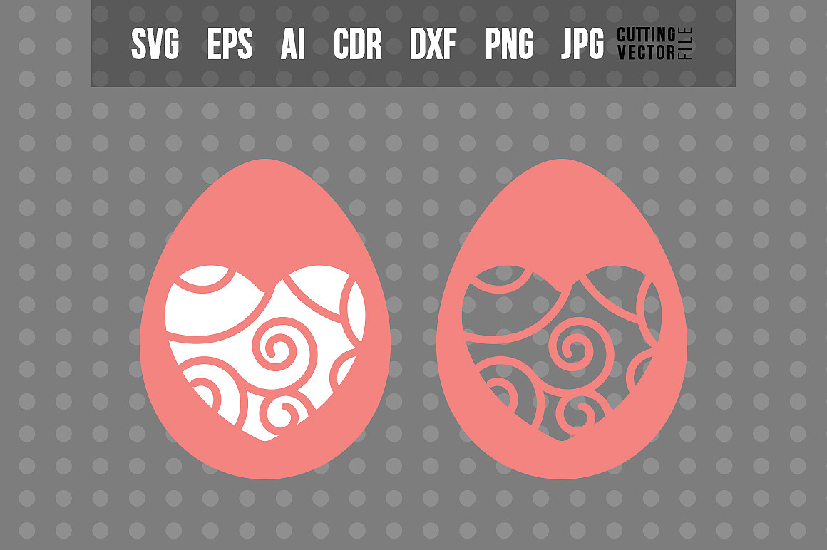 Easter Egg with Heart shaped Decoration example image 1