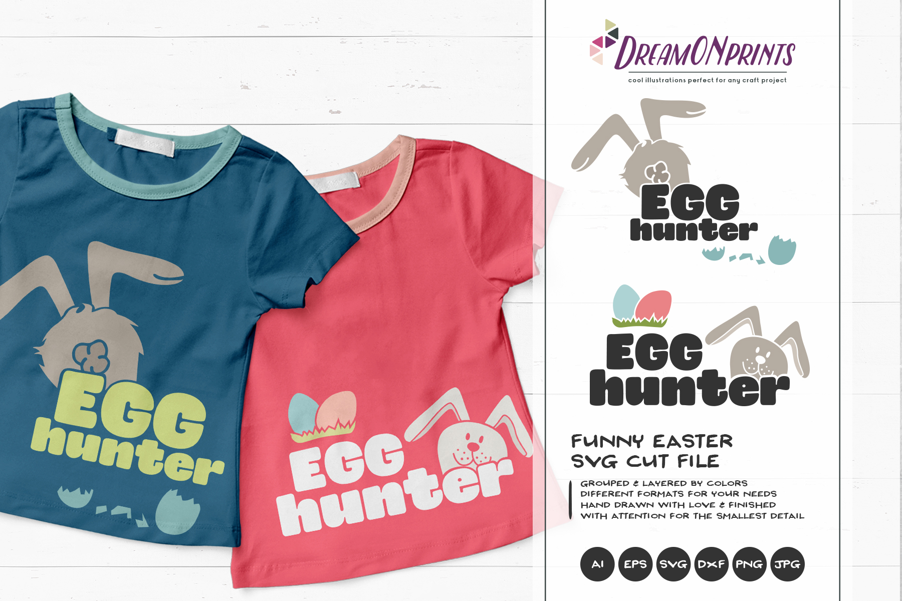 Easter SVG Bundle - The Funny Bunny Vector BUNDLE example image 16