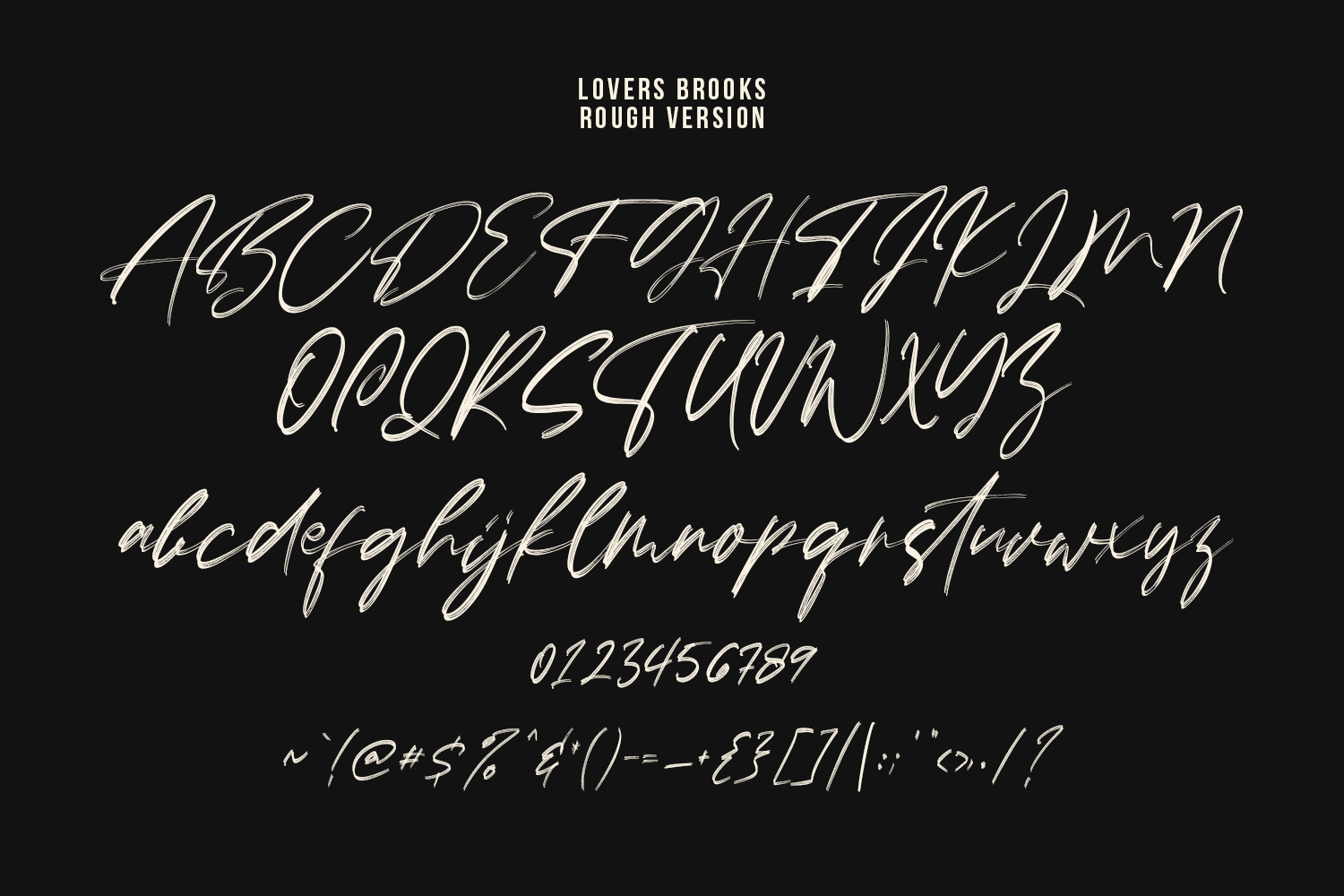 Lovers Brooks SVG Brush Font Sans example image 8