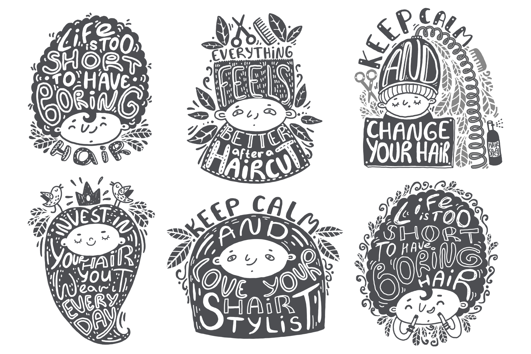 Hand drawn lettering bundle example image 4