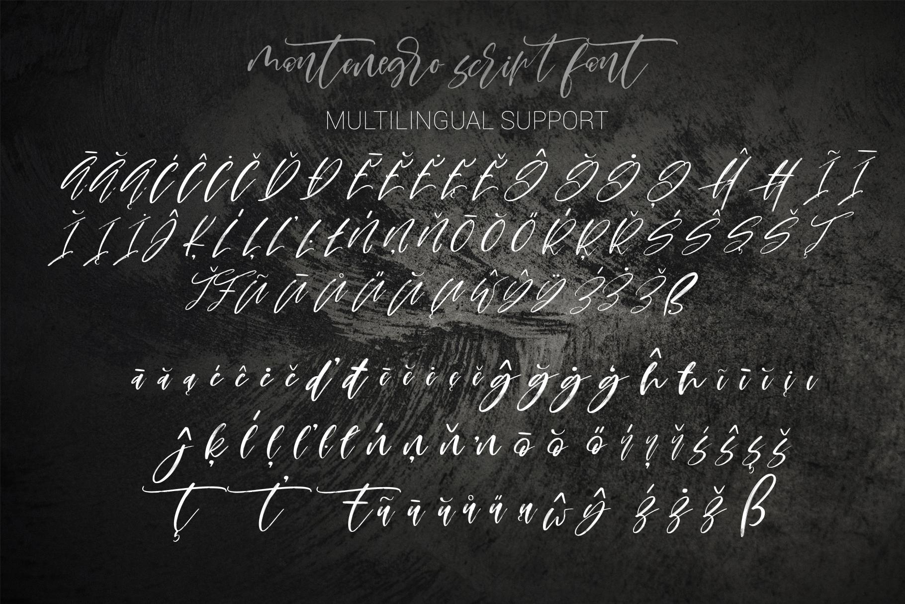 Montenegro textured script font example image 19