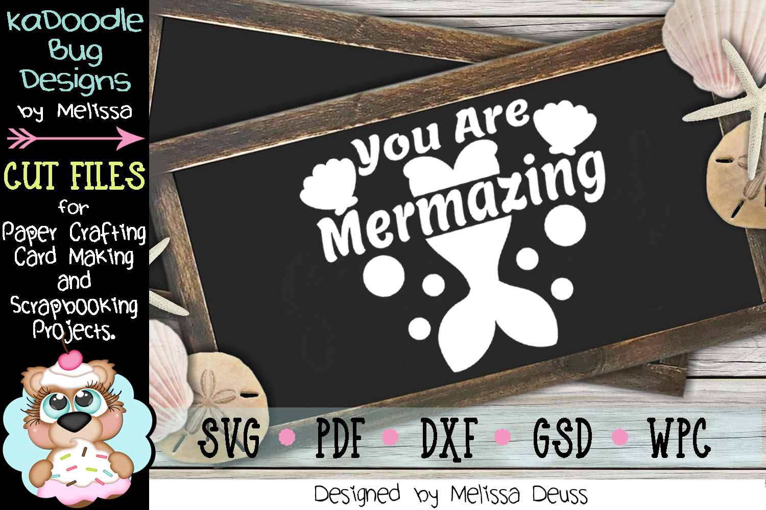 You Are Mermazing Cut File - SVG PDF DXF - Mermaid example image 4