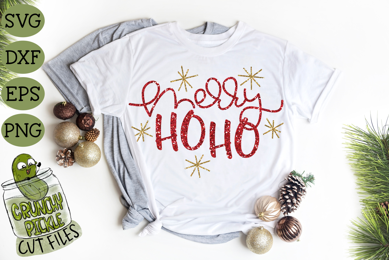 Merry Ho Ho Christmas SVG File example image 1