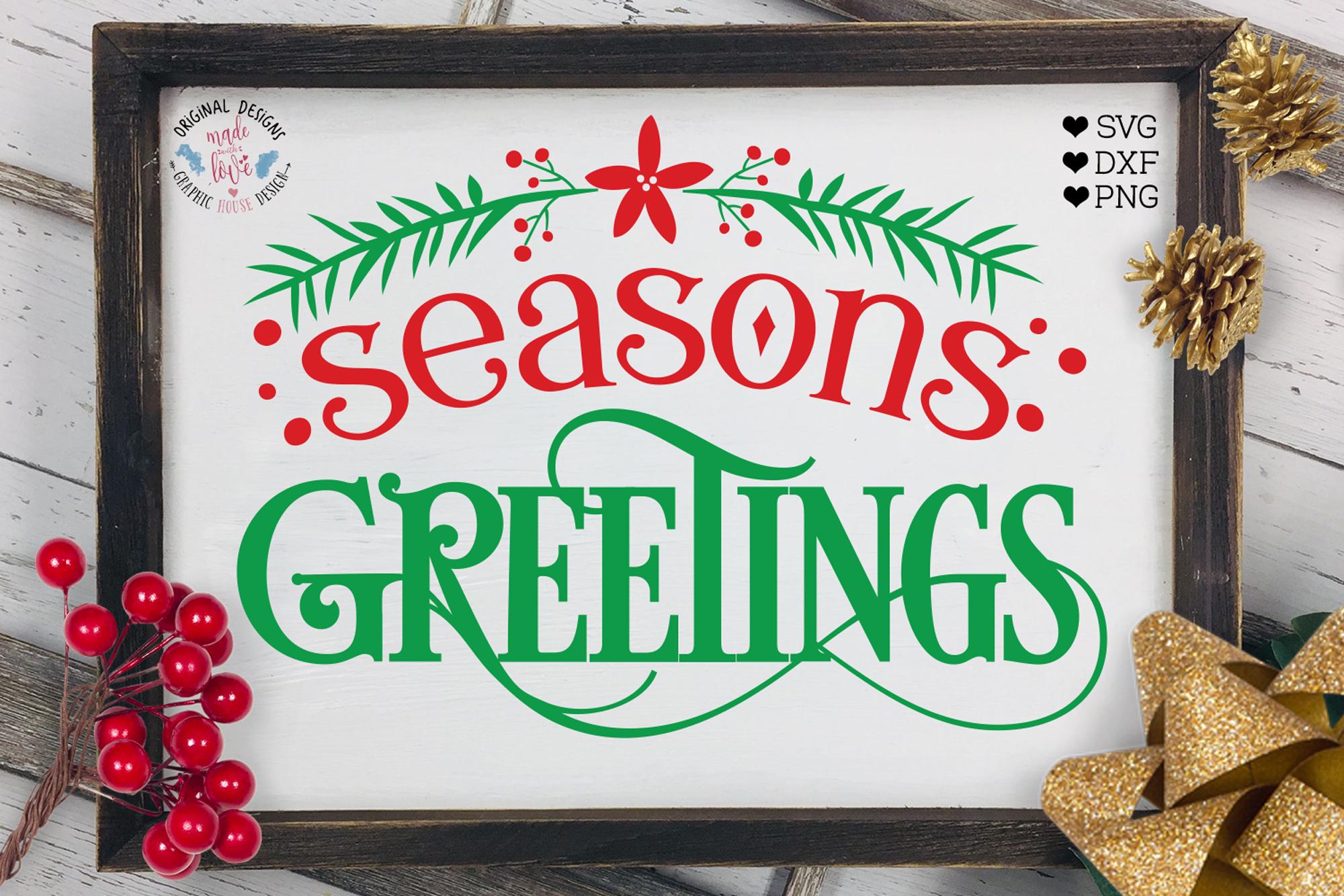 Seasons Greetings - Christmas Home Decor Cut File example image 1