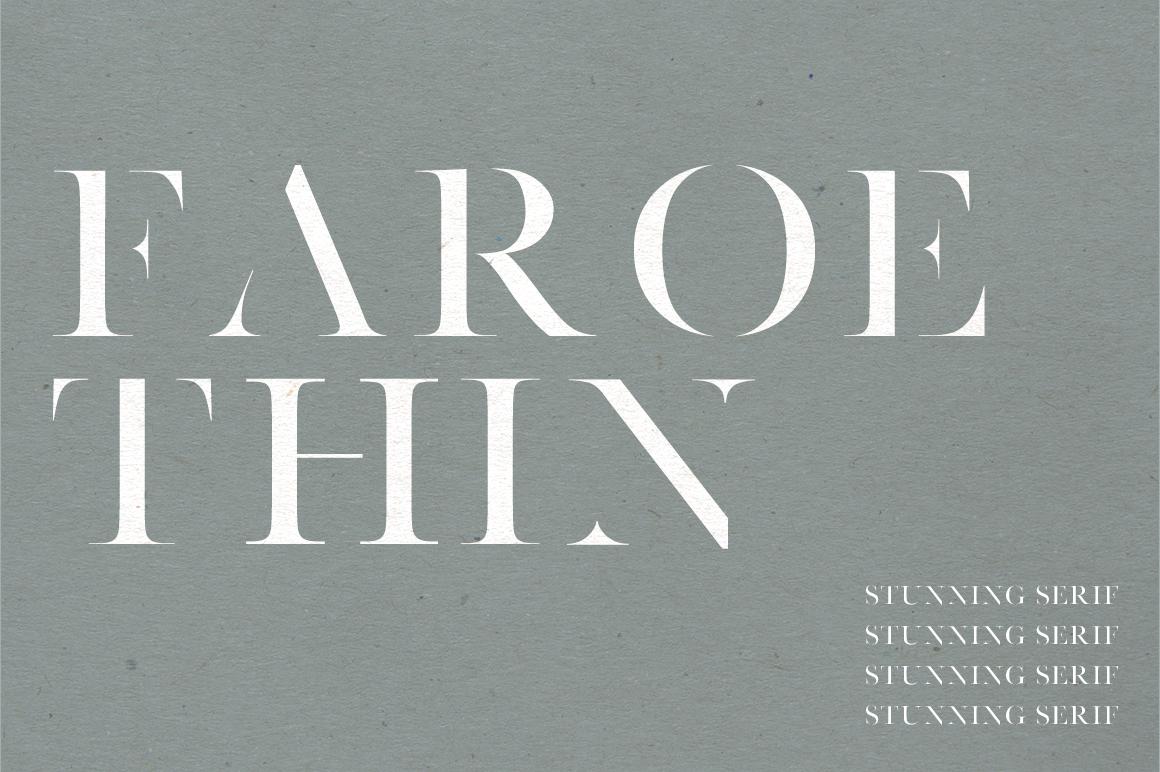 Faroe Thin | A Stunning Serif example image 1