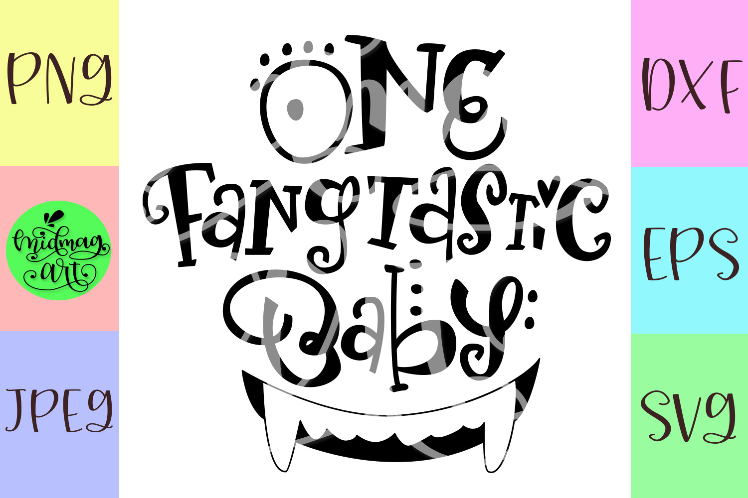One fangtastic baby svg, halloween baby svg example image 2
