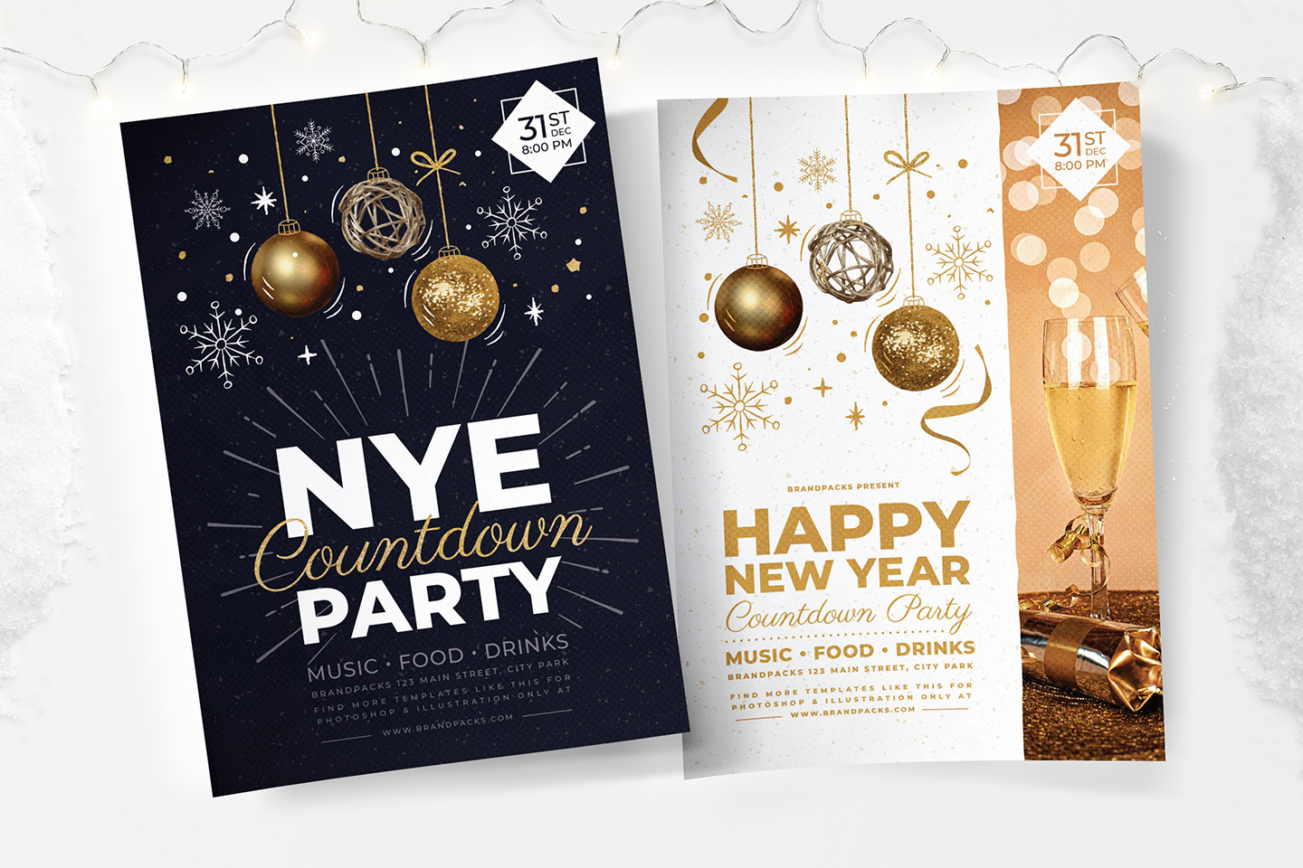 NYE Party Flyer/Poster example image 1