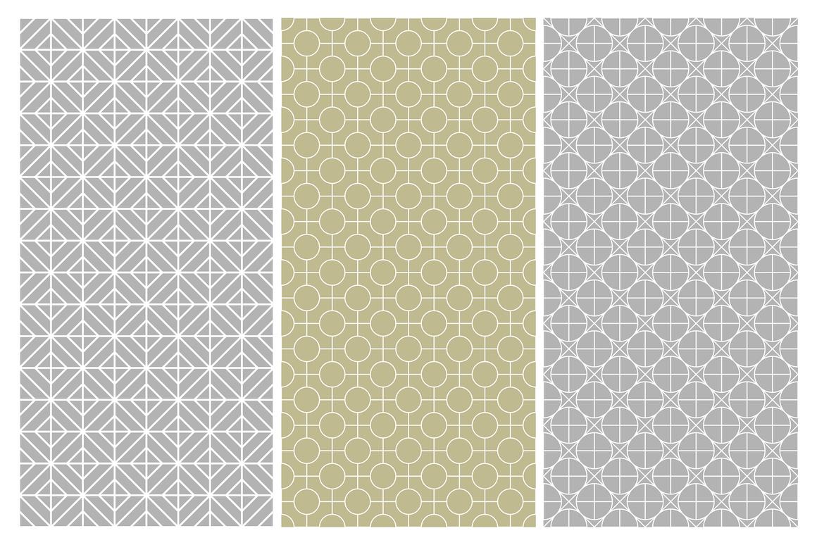 Geometric seamless symmetry patterns example image 9