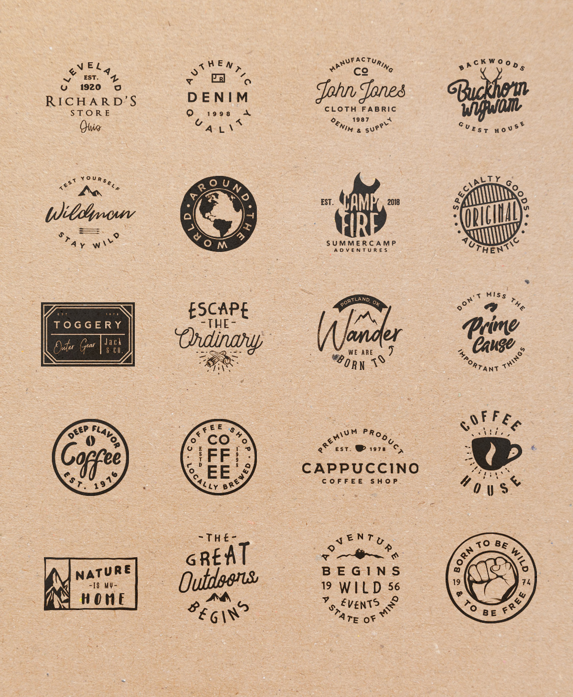 Vol.3 | 20 Retro Badges Templates example image 9