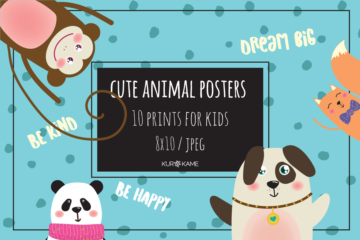 Cute Animal Posters example image 1