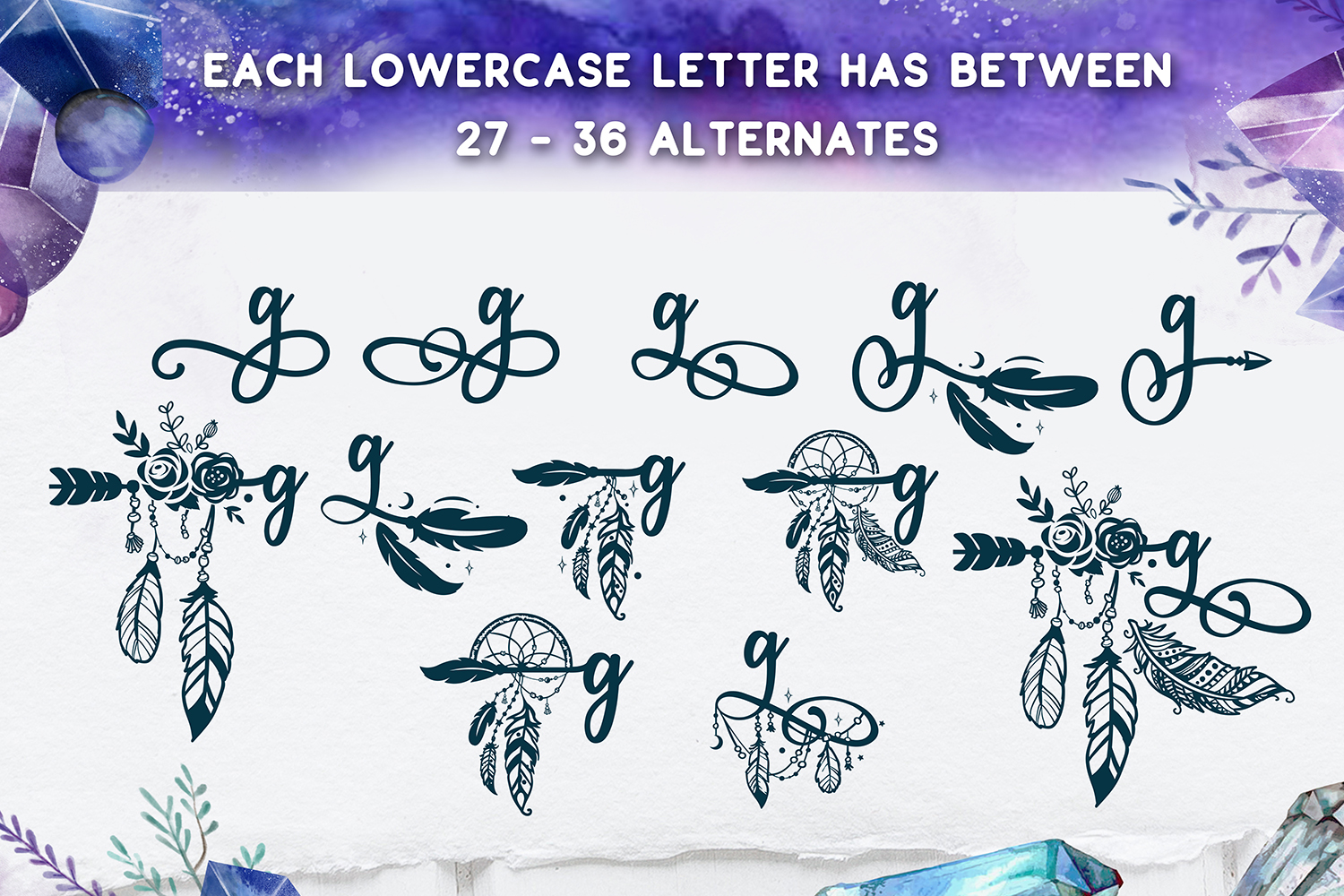 Bohema Spirit font and illustrations example image 3