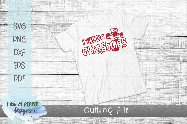 Merry Christmas Plaid Cross SVG - A Christmas SVG example image 2