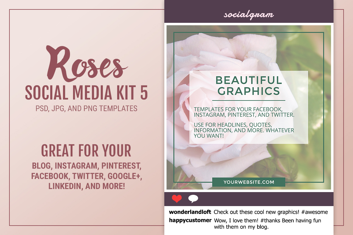 Roses Social Media Kit 5 example image 1