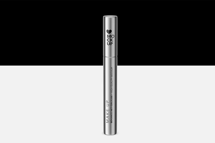 Cosmetics Mockup - Lipstick / Mascara / Eyeliner - Metallic example image 2