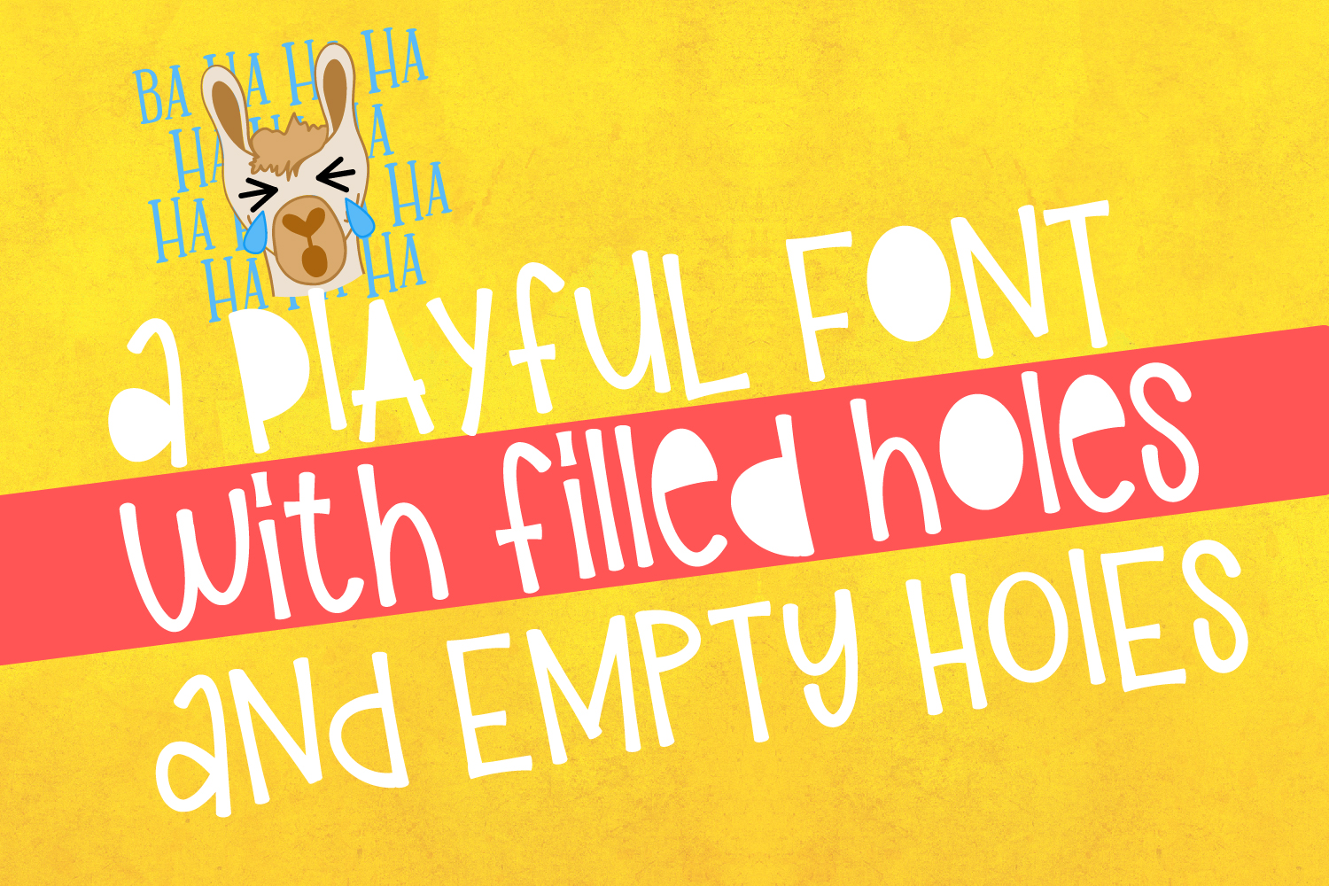 Girl Llama - Font Duo With Extras example image 2