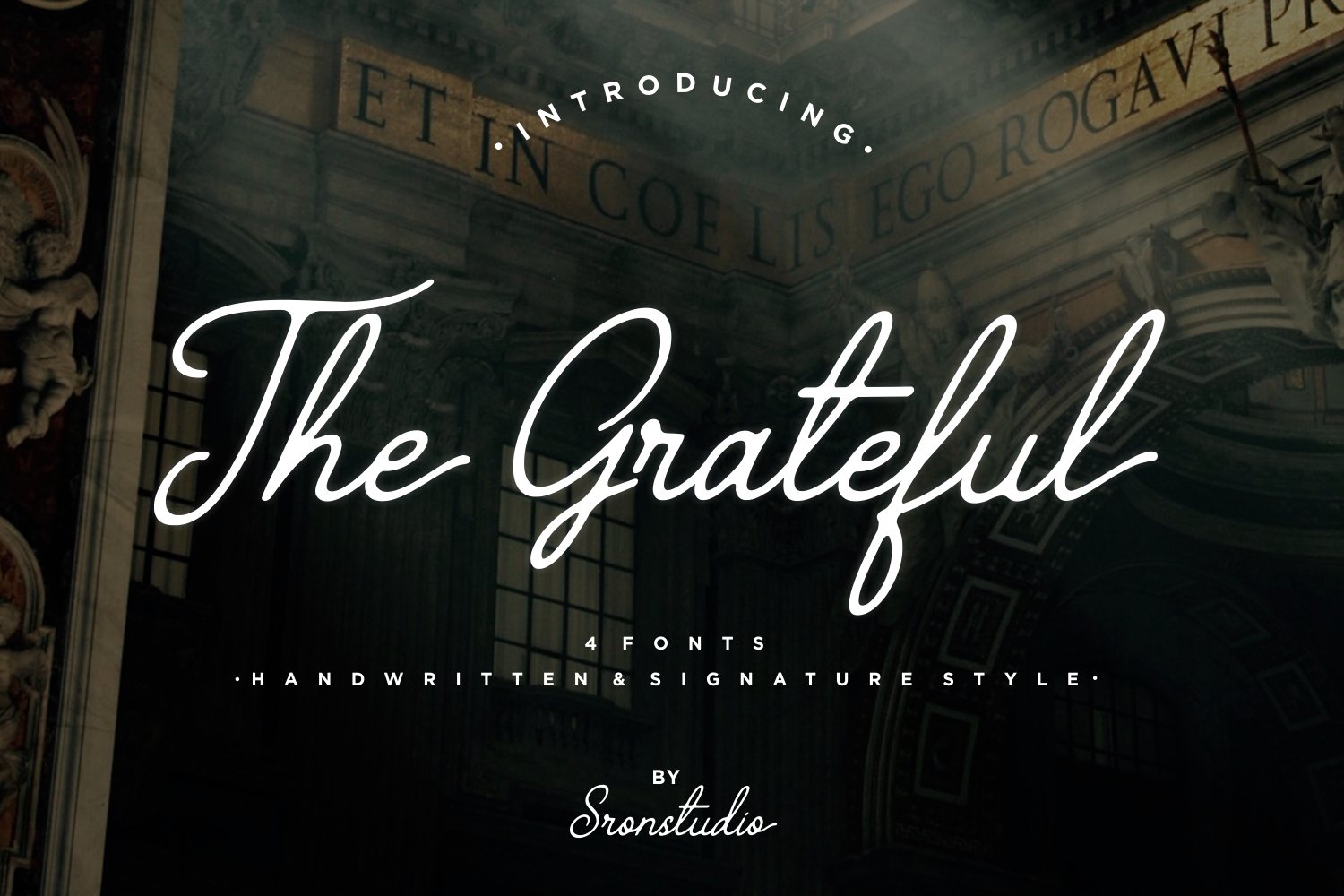 The Grateful Script | 4 Fonts example image 1