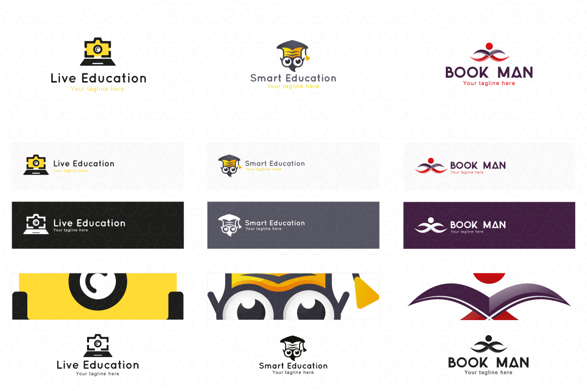 Education E-Learning & School Logo Pack of 10 Awesome Design example image 2