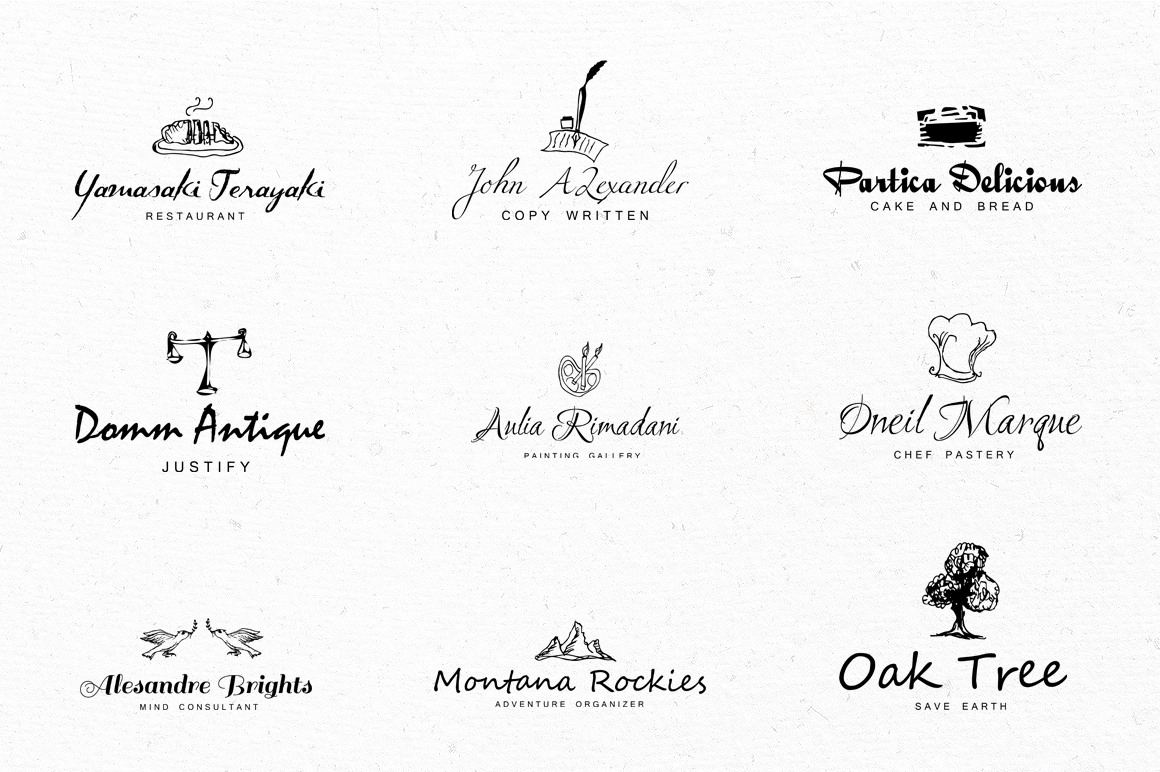24 Logo Lettering Vintage Style example image 5