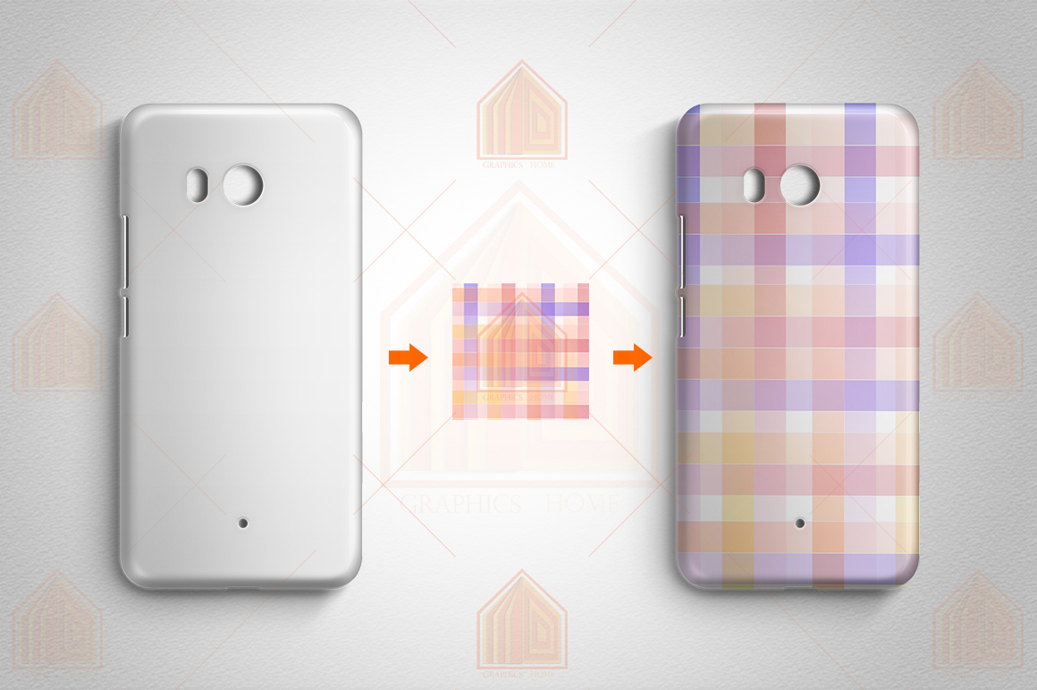HTC U11 3dCase Design Mockup Back View example image 4