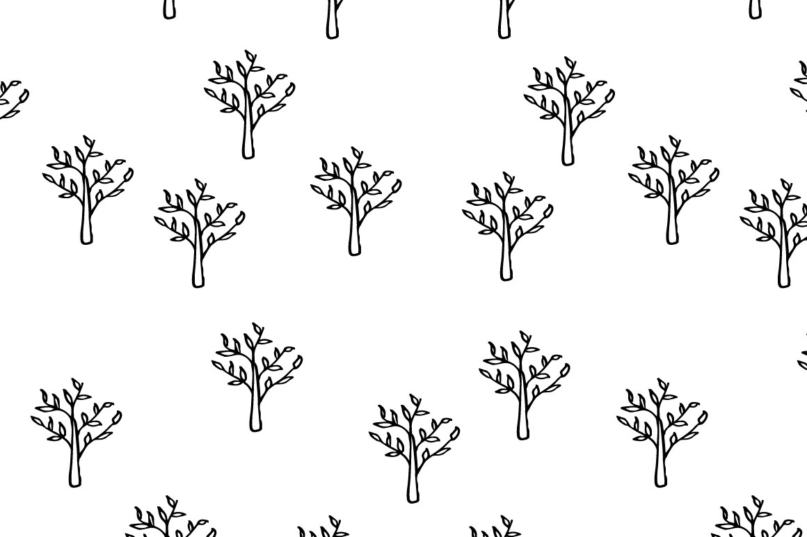 Trees pattern collection example image 5
