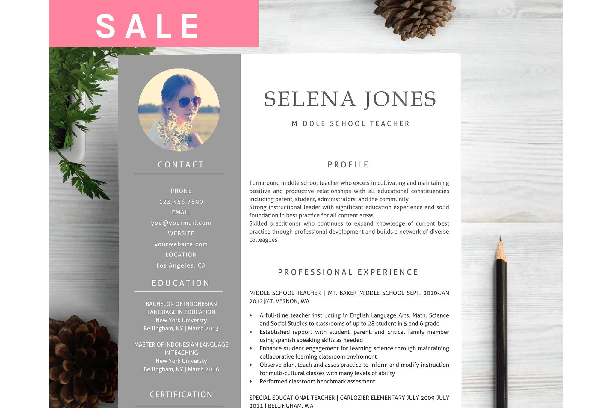 Resume Template CV Word example image 1