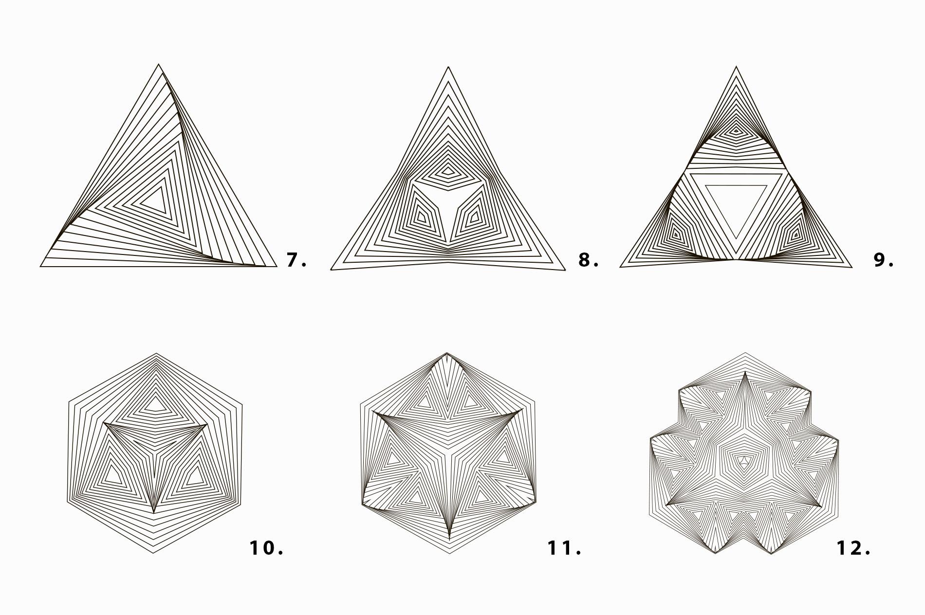 Illusion linear geometric shapes example image 6