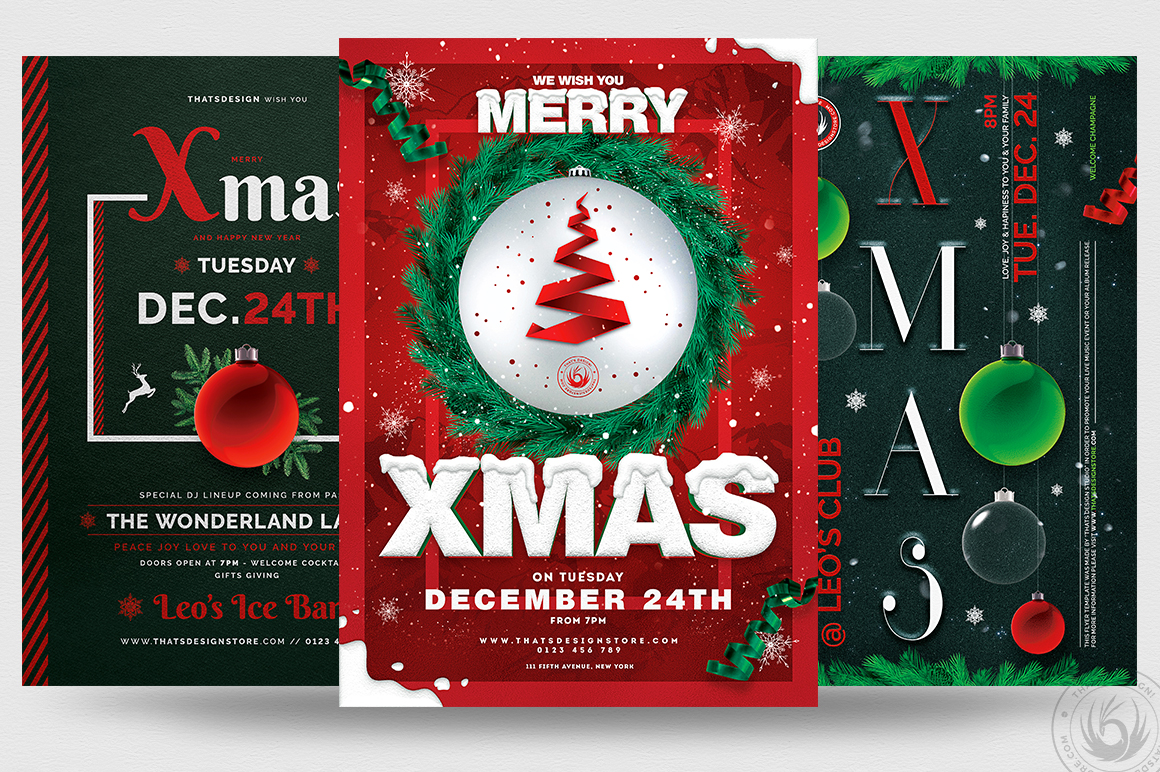 Christmas Eve Flyer Bundle V2 example image 1