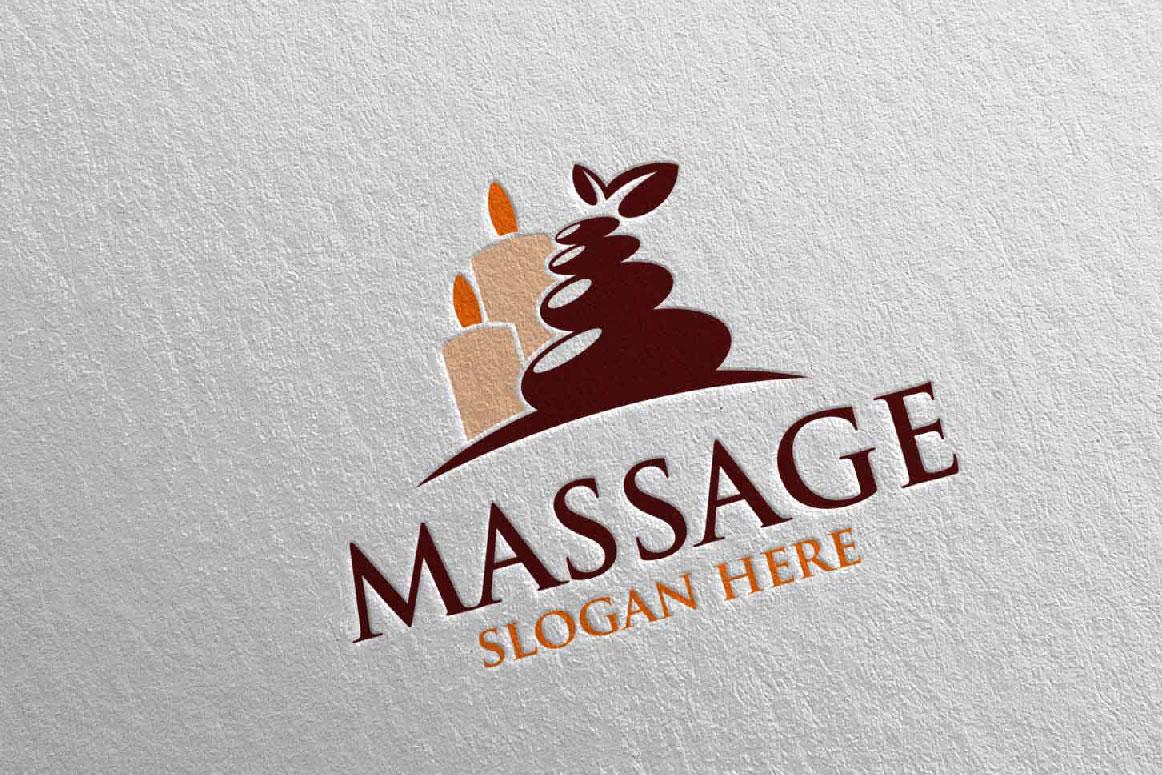 Massage Logo Design 7 example image 2