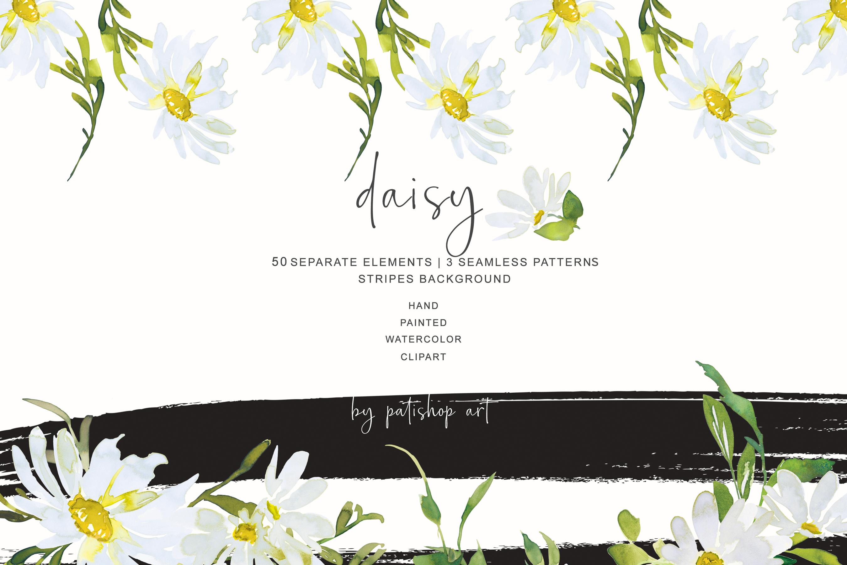 Watercolor Daisy Clip Art example image 5